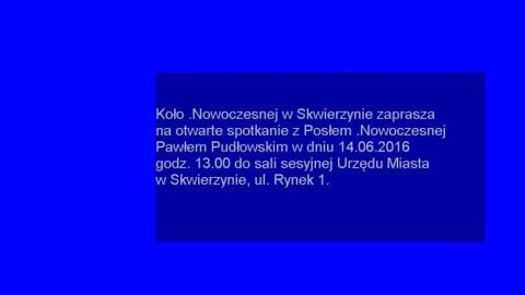 14 czerwca zapraszamy na spotkania z Pawłem Pudłowskim w Gorzowie i Skwierzynie!